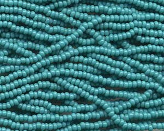 8/0 Green Turquoise Opaque Genuine Czech Glass Preciosa Rocaille Seed Beads 36 grams