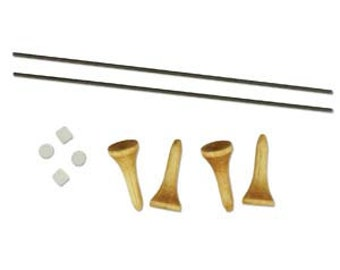 Clearance Ricks Beading Loom Accessory Pack includes replacement warp pegs and rods.
