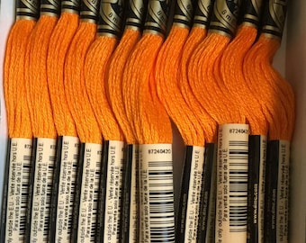 DMC 971 Pumpkin Embroidery Floss 2 Skeins 6 Strand Thread for Embroidery Cross Stitch Needlepoint Sewing Beading