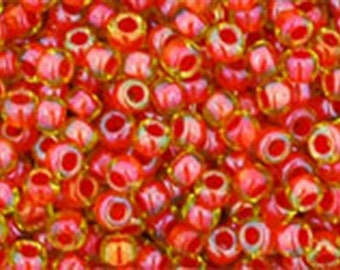 11/0 Inside Color Jonquil/Hyacinth Lined Toho Glass Seed Beads 2.5 inch tube 8 grams TR-11-303