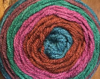 Rum Raisin Caron Yarnspirations Yarn Cakes Acrylic Wool Blend 383 yards