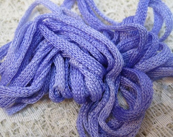 3 Lavender Silk Knitted Tube Cord for Kumihimo Braiding Weaving 9 yards