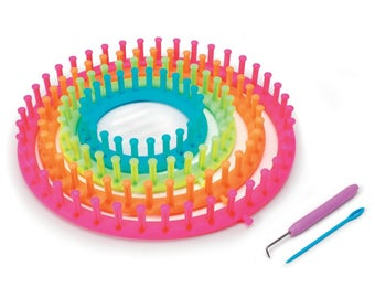 Easy Knitting Round Loom Set of 4 Different Sized Looms