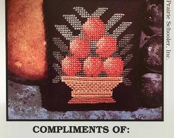 Still Life Cross Stitch Sampler Pattern The Prairie Schooler 1993