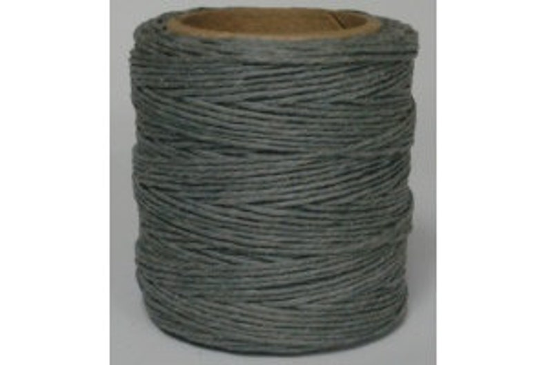 Waxed Polyester Cord Gray Maine Thread .040 1mm Grey cord Waxed Cord Bracelets Wrap Bracelets Made in the USA One Spool 70 yards