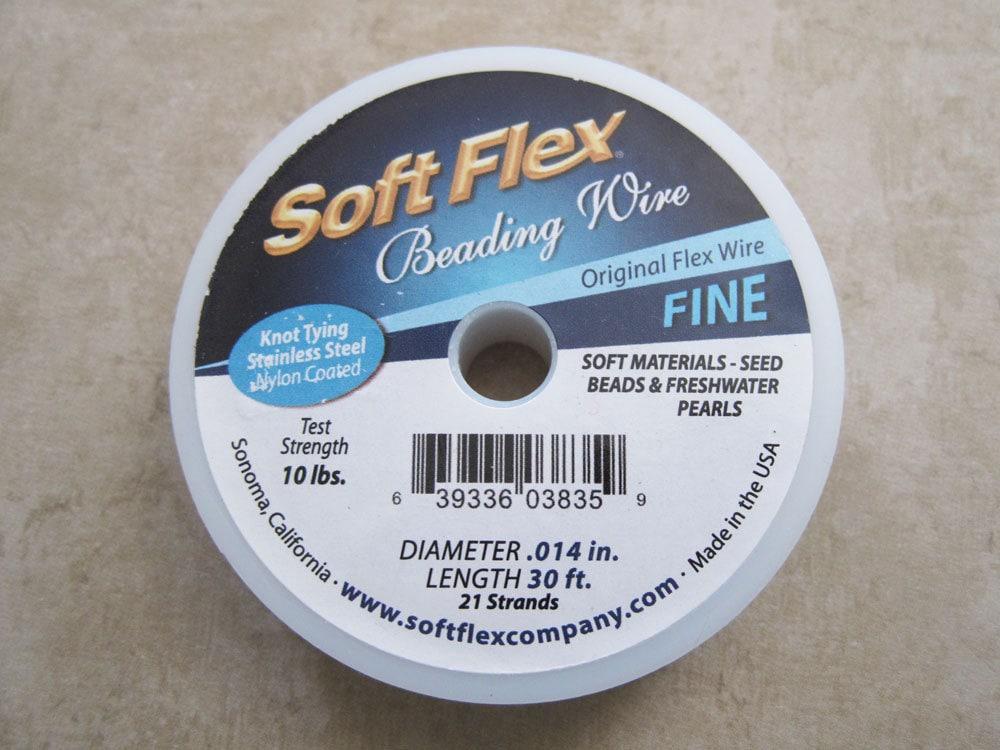Original Satin Silver Soft Flex 21 Strand Fine Beading Wire .014 ...