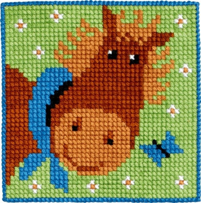 Horse Kits for Kids Beginning Stitching Kit by Permin All image 0