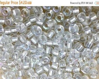 ON SALE 6/0 Crystal Pearlized Japanese Glass Seed Beads 6 inch tube 28 grams #770