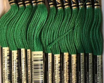 DMC 700 Bright Green Embroidery Floss 2 Skeins 6 Strand Thread for Embroidery Cross Stitch Needlepoint Sewing Beading