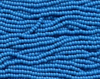 ON SALE 8/0 Turquoise Opaque Genuine Czech Glass Preciosa Rocaille Seed Beads 36 grams SB8-63050