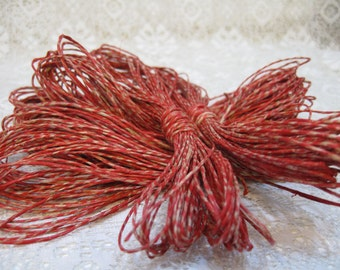 Red Natural Multi Colored Natural Hemp Macrame Cord Twine 30 ft