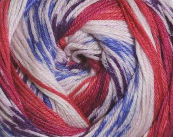 Jewels Cascade Heritage Prints Yarn 437 yards Super Fine Wool Nylon Sock Yarn Color 29