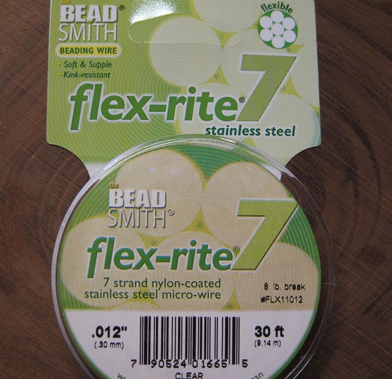 BEADSMITH FLEX RITE 7 STRAND Beading Wire .010 Clear 30 FT