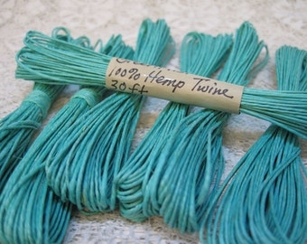 Green Mist Natural Hemp Macrame Cord Twine 30 ft Limited Supply