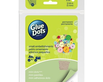 """Glue Dots Clear Dot Sheets 3/16"""" or .1875 inches Double Sided Acid Free for Beading Beadweaving Crafts 5mm Pack of 252 pcs"""