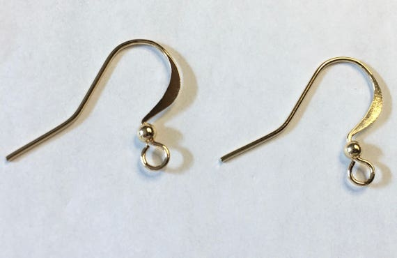 10 OR 50 Gold Plated Surgical Steel Ball Earwires Fishhook with 2.5mm Ball
