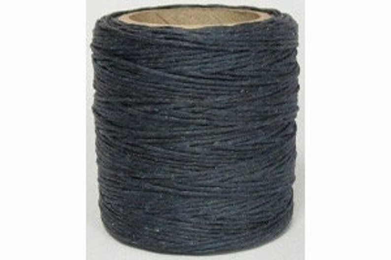 Waxed Polyester Cord Denim Maine Thread .040 1mm cord Waxed Cord Bracelets Wrap Bracelets Made in the USA One Spool 70 yards