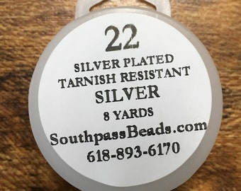 22 gauge Silver Tarnish Resistant Copper Craft Wire 8 yards Made in USA