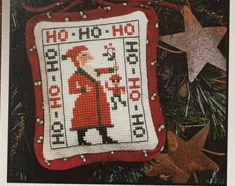 Santa Ho Ho Ho Cross Stitch Sampler Pattern The Prairie Schooler