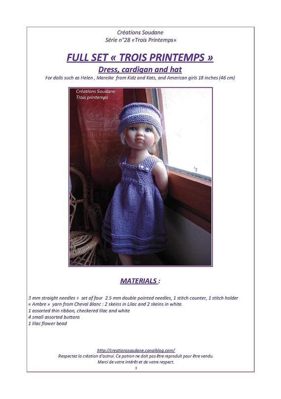 En inglés y francés paquete de 3 patrones de tejer PDF Kids\'n\' | Etsy