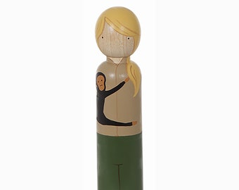 Jane Goodall, Large Wooden Peg Doll, Trailblazers, Famous Women, Educational Fair Trade Toys, Goose Grease