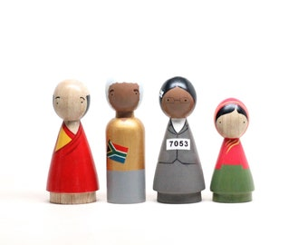 The Peace Makers II, Wooden Peg Dolls, Educational, Fair Trade Toys, Goose Grease