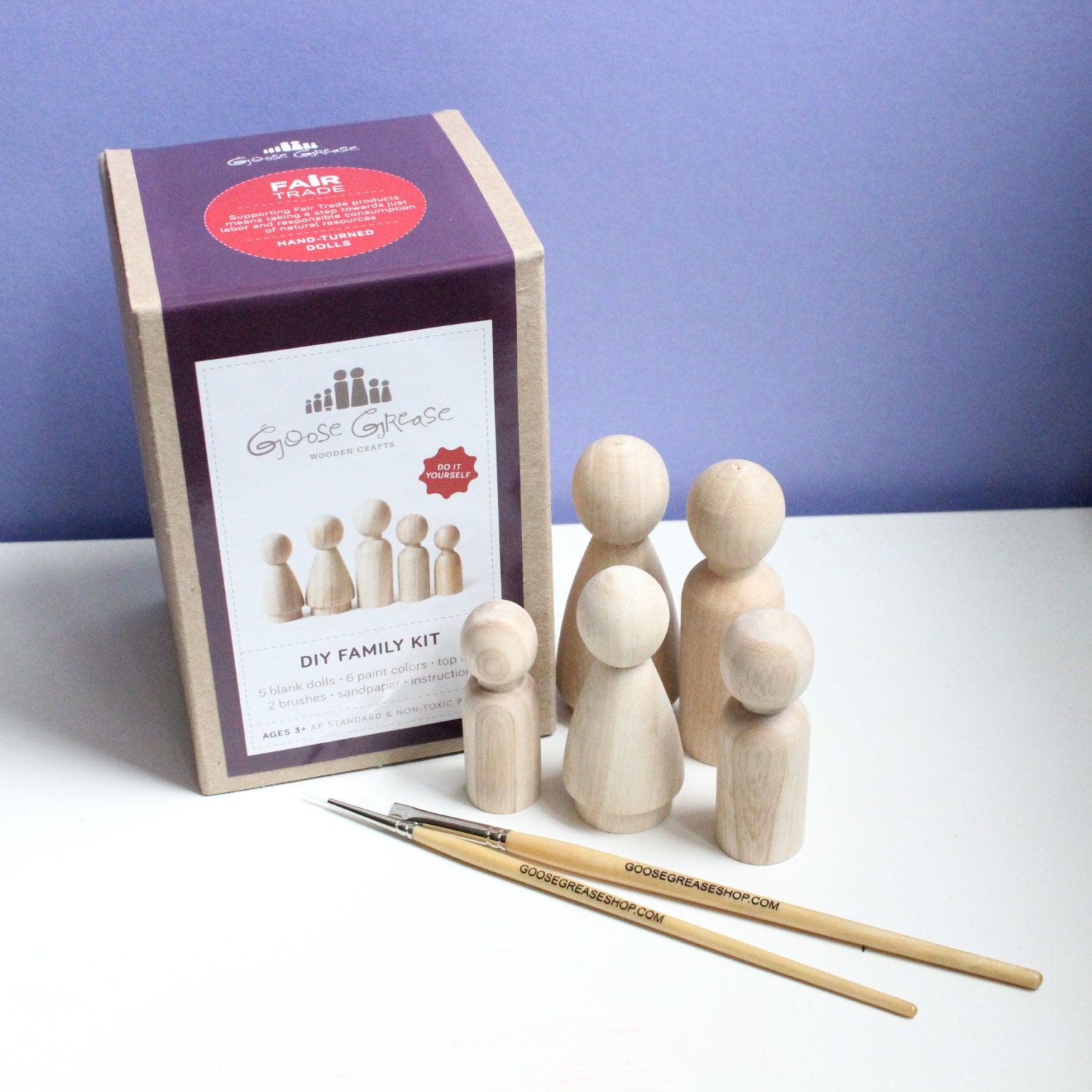 Wooden dolls peg dolls custom family portrait diy kit do it etsy zoom solutioingenieria
