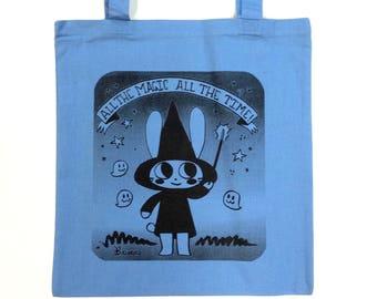 Magical Character Rabbit Tote bag BLUE