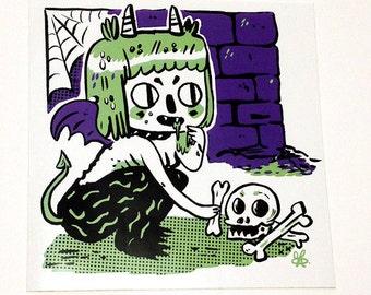 Ghoulie Girl Sticker