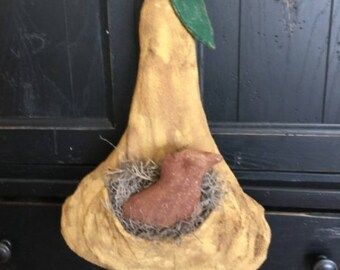 Primitive Partridge in a Pear Pocket and Pear Ornie