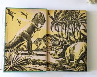 All About Dinosaurs.  1950s illustrated science book by Roy Chapman Andrews.