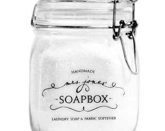 Mrs. Jones' Soapbox Laundry Soap Cleaner Fabric Softener & Soft Cleaning Scrub Gift Box With Bamboo Measuring Spoon …