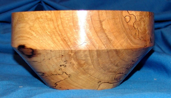 "Spalted Maple Bowl  - ""Hidden Within"" – Great Grain and Character – FREE Shipping in USA!!"