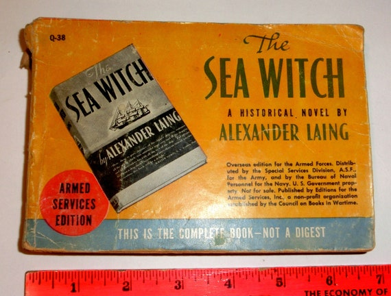 Vintage WWII Armed Services Novel: The Sea Witch – Collect or Use