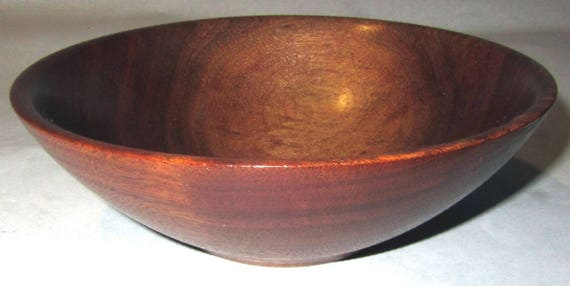 "Small Walnut Wood Turned Bowl ""Midnight Dawn"" – 4-03"
