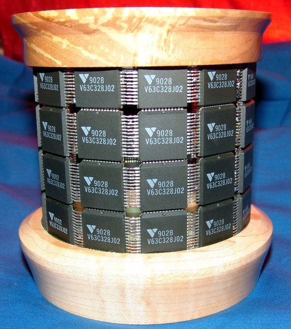 Digital Technology Holding Analog Technology - Pencil Holder – 66-17 – Integrated Circuits and Wood – FREE Shipping in USA!!