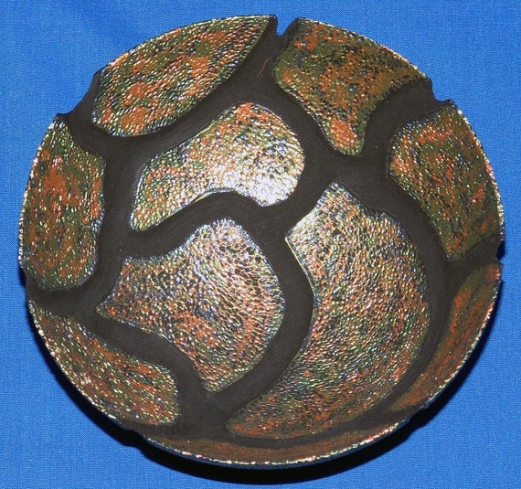 Maple Bowl -Carapace- with Carving, Pyrography and Color 23-09 - FREE Shipping in USA!!