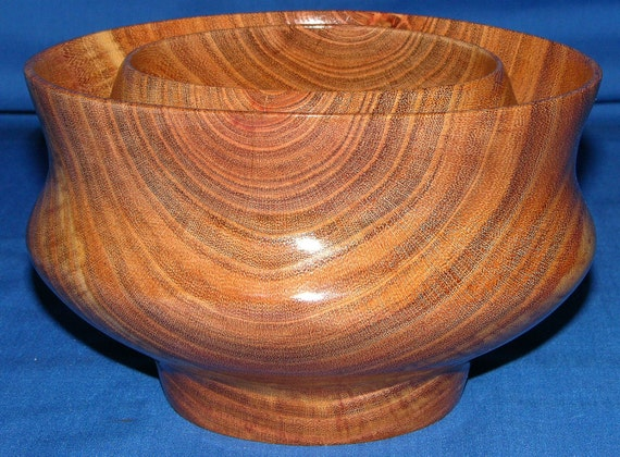 "Black Locust bowl ""Twin Within"" 23-11 - FREE Shipping in USA!!"