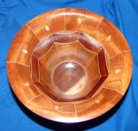 "Segmented Wood Turned Bowl – ""Proof of Concept"" – Sementation with Inserts 20-18 – FREE Shipping in USA!!"