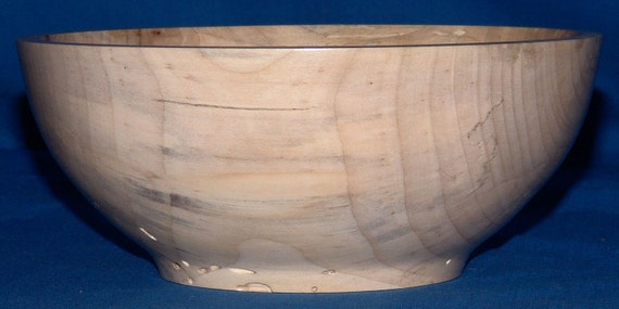 Wormy Maple Bowl -It's The Miles- Very Wormy Spalted Maple