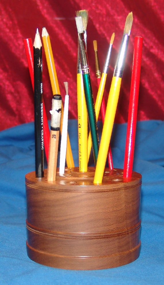 21 Brush/Pencil Holder – 24-18 – Black Walnut – FREE Shipping in USA!!