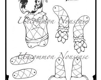 Coloriage Pantin Arlequin.Telecharger Coloriage Ernie Un Arlequin Pantin Articule De La Etsy