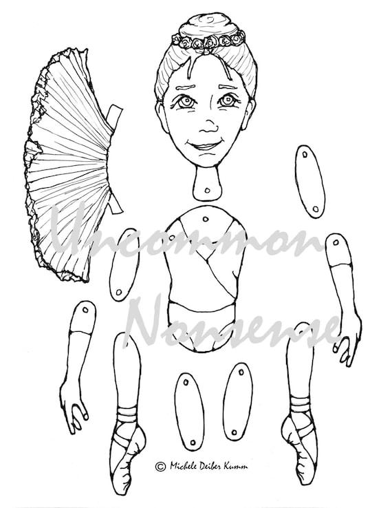 Fille De Ballet 1 La Danse Ballet Articule De Marionnettes Etsy