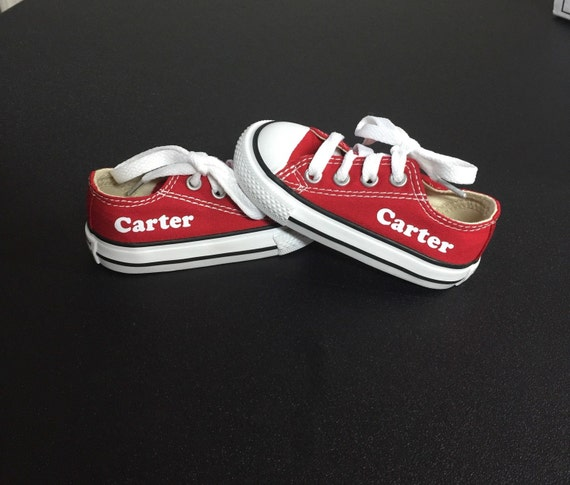 29b229a9bcdd Personalized Infant and Kids Custom Low Top Converse Shoes