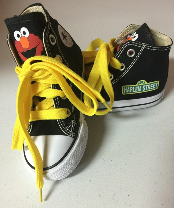 Sesame Street Shoes Custom Kid Converse Shoes Custom Personalized High Top Converse Shoes
