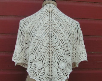 shawl Pattern knitting knit charted PDF neck scarf shawlette CASBAH 4 styles fingering weight