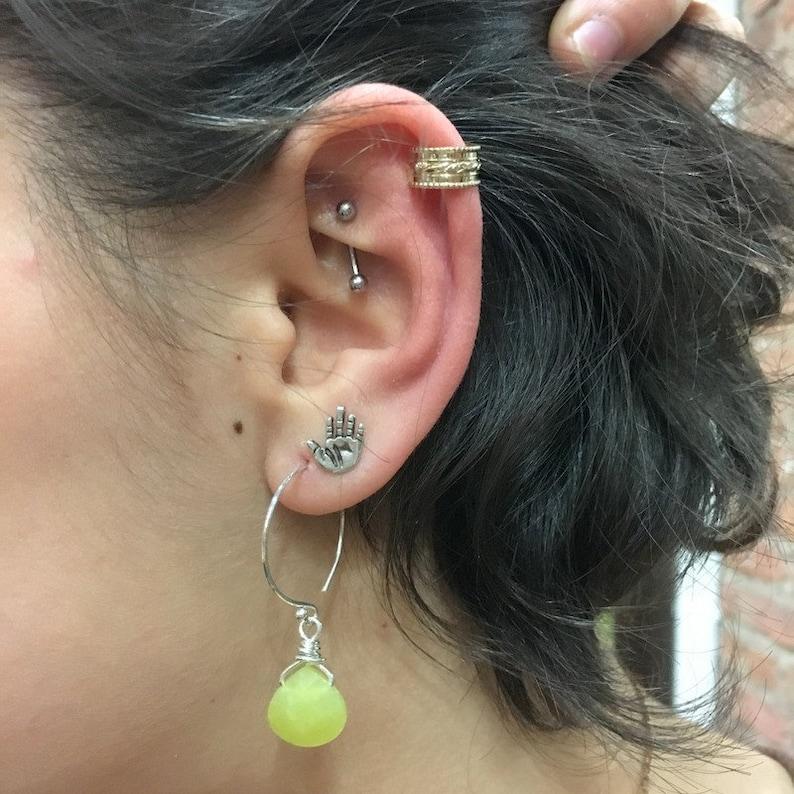 Gold Piercing EC8066 Conch Cuff Fake Conch Piercing Fake Piercings goldfilled Lace Ear Cuff Fake ear Piercing Ear Cuff ear wrap