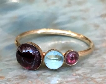 Family ring, Mothers ring, Gold ring, Gold Filled ring, birthstones ring, custom ring, family ring, multi stone ring - Say anything R2559