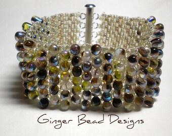 Beaded Peyote Stitch Fall Bracelet