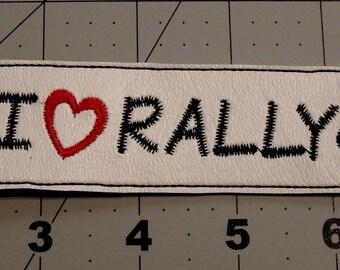 I Love Rally key fob